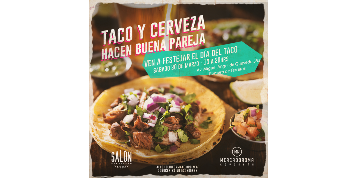 Happenings: Celebra el día del taco en Mercado Roma por The Happening